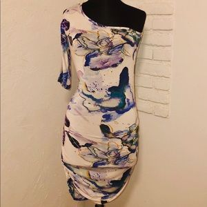 Arden B Dress one sleeve cold shoulder size M